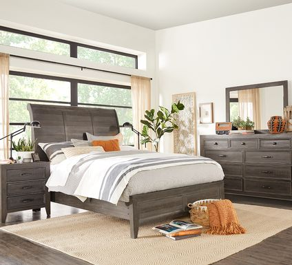 Finlay Espresso 7 Pc King Sleigh Bedroom