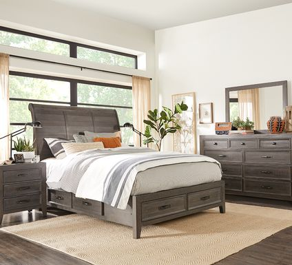 Finlay Espresso 7 Pc King Storage Bedroom