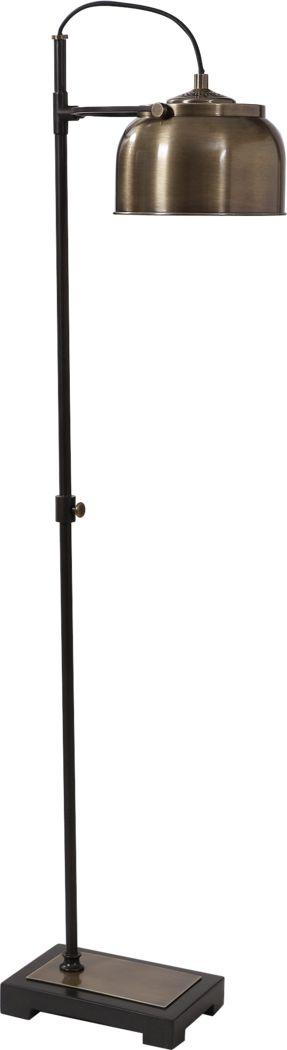 Flager Avenue Black Floor Lamp
