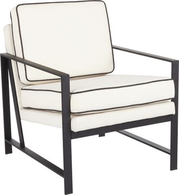 Flaxen Cream Accent Chair