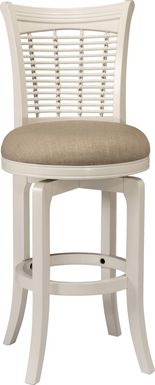 Flaxfield White Swivel Counter Height Stool