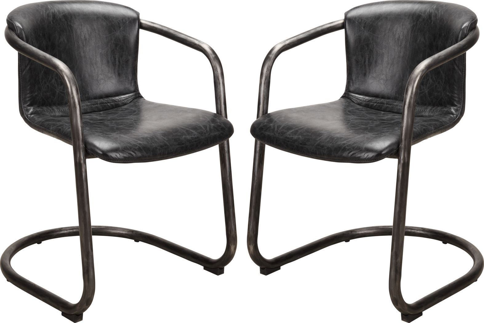 Flintcove Black Dining Chair (Set of 2)