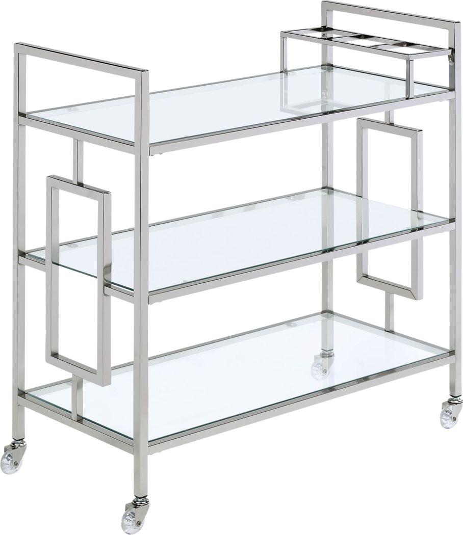 Flournoy Chrome Bar Cart
