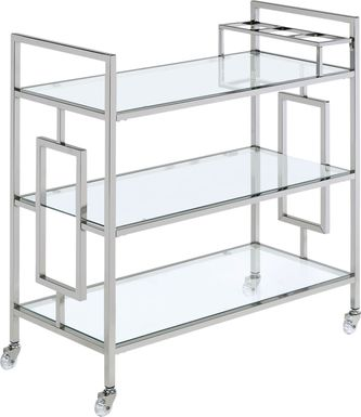 Flournoy Chrome Bar Cart