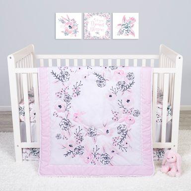 Flower Fantasy White 4 Pc Baby Bedding Set