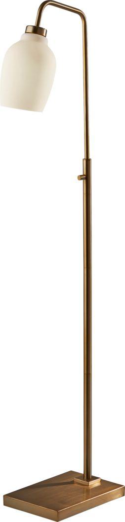 Floyd Circle Brass Floor Lamp