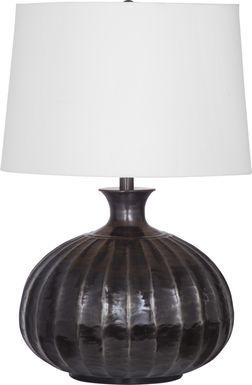 Fluted Lane Black Lamp