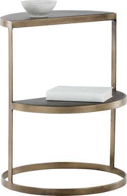 Fontanella Brass End Table