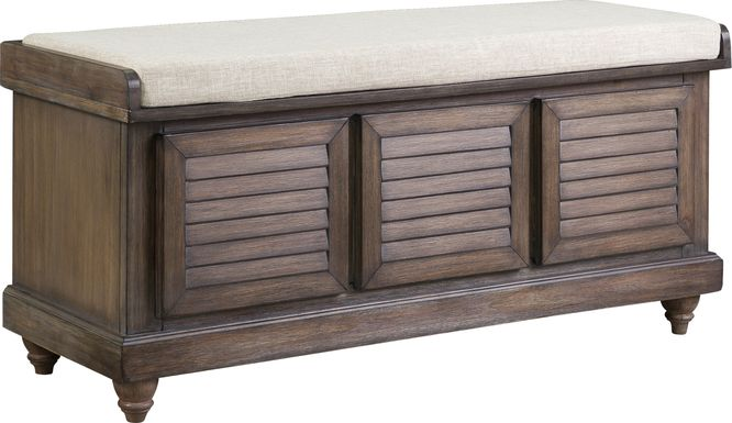 Fourwood Brown Storage Bench