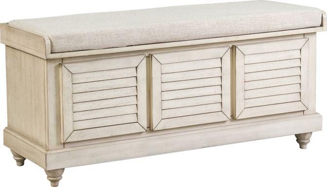 Fourwood White Storage Bench
