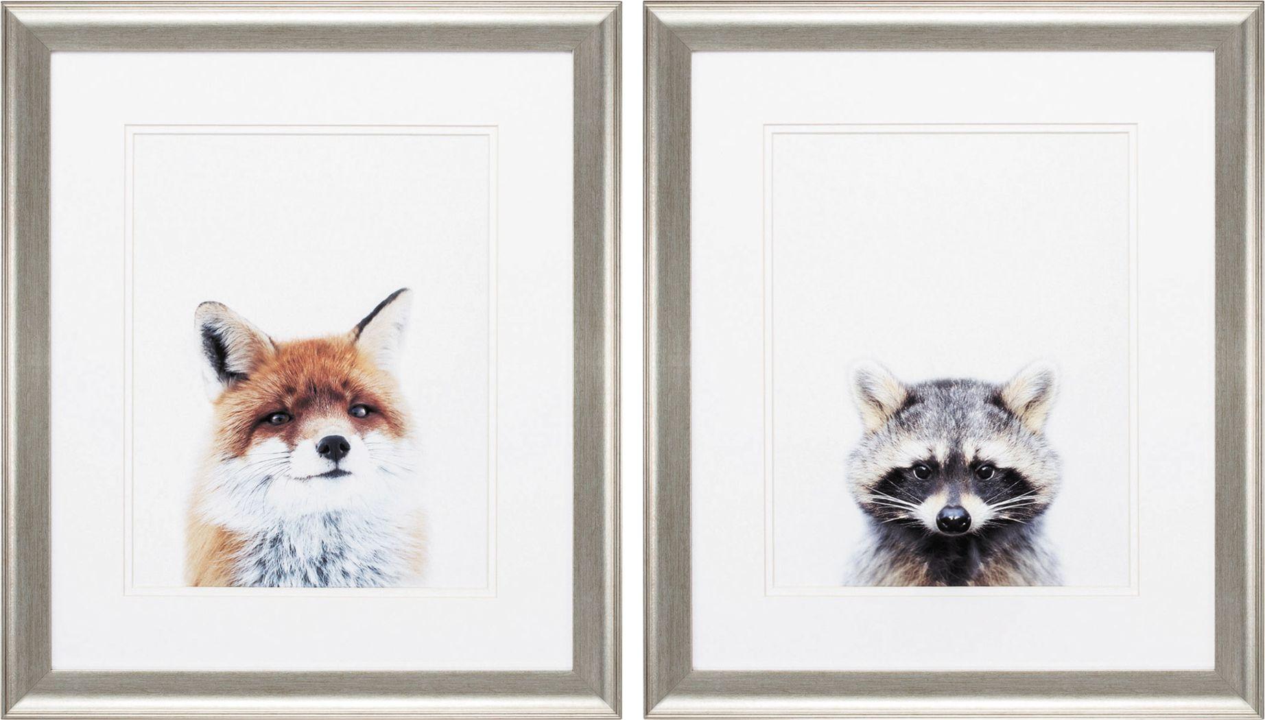 Foxy Racoon Set of 2 Artwork