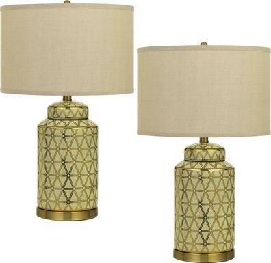 Fraley Fields Gold Lamp, Set of 2