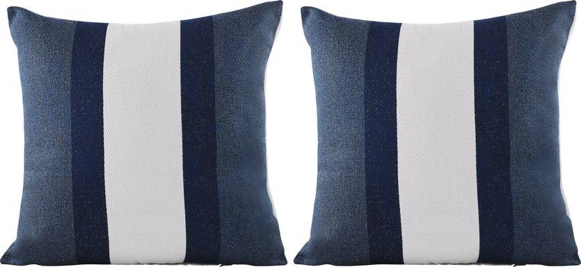 Madura Navy Indoor/Outdoor Accent Pillow, Set of Two