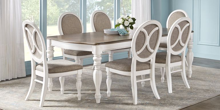 French Market White 5 Pc Rectangle Dining Room