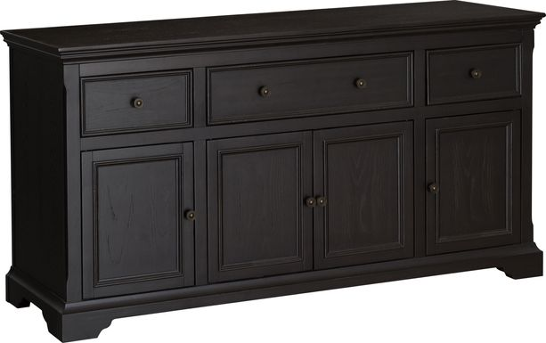 Fretwell Black 60 in. Console