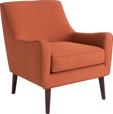 Frostwood Orange Accent Chair