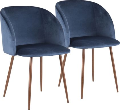 Fulham Blue Dining Chair, Set of 2
