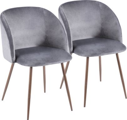 Fulham Gray Dining Chair, Set of 2