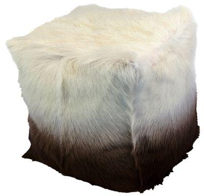 Furry Square Ombre Pouf