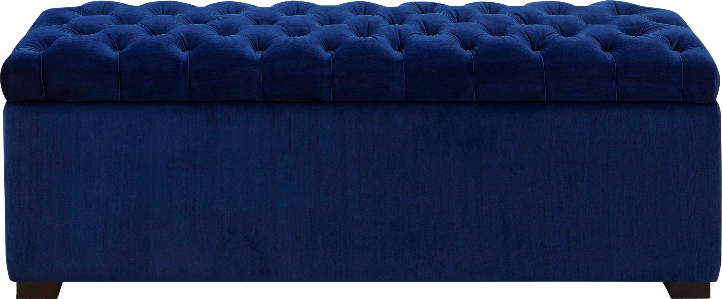 Furtson Blue Storage Bench