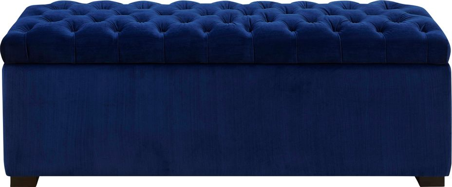 Furtson Blue Storage Bench