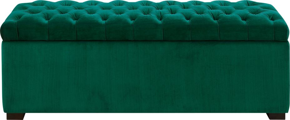 Furtson Emerald Storage Bench