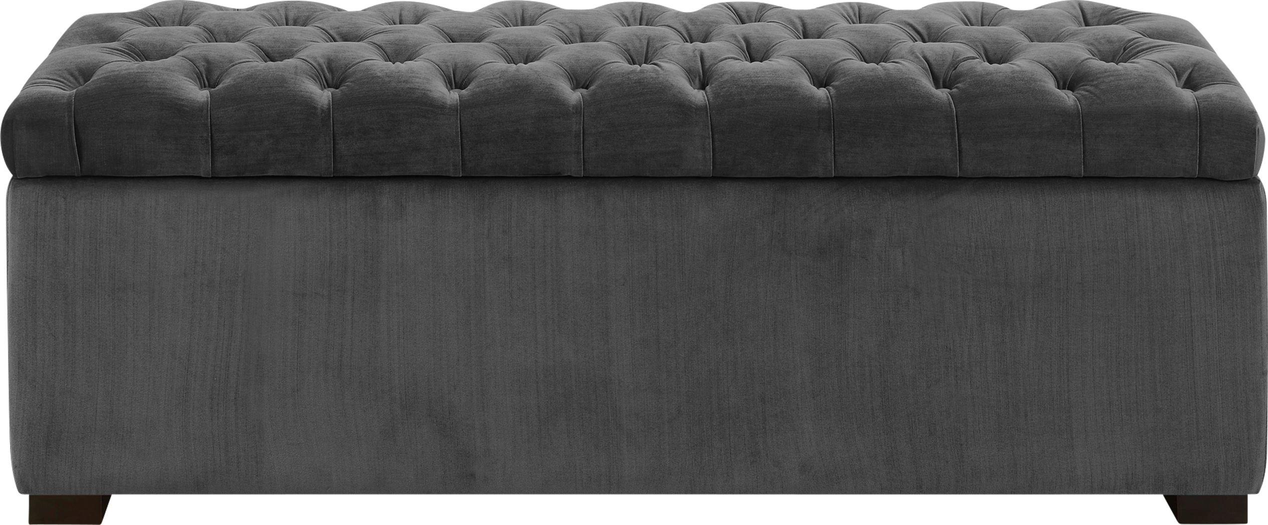 Furtson Gray Storage Bench