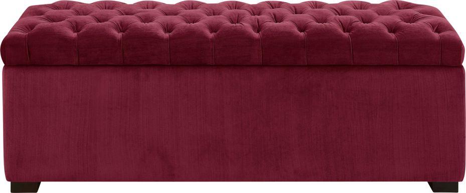 Furtson Red Storage Bench