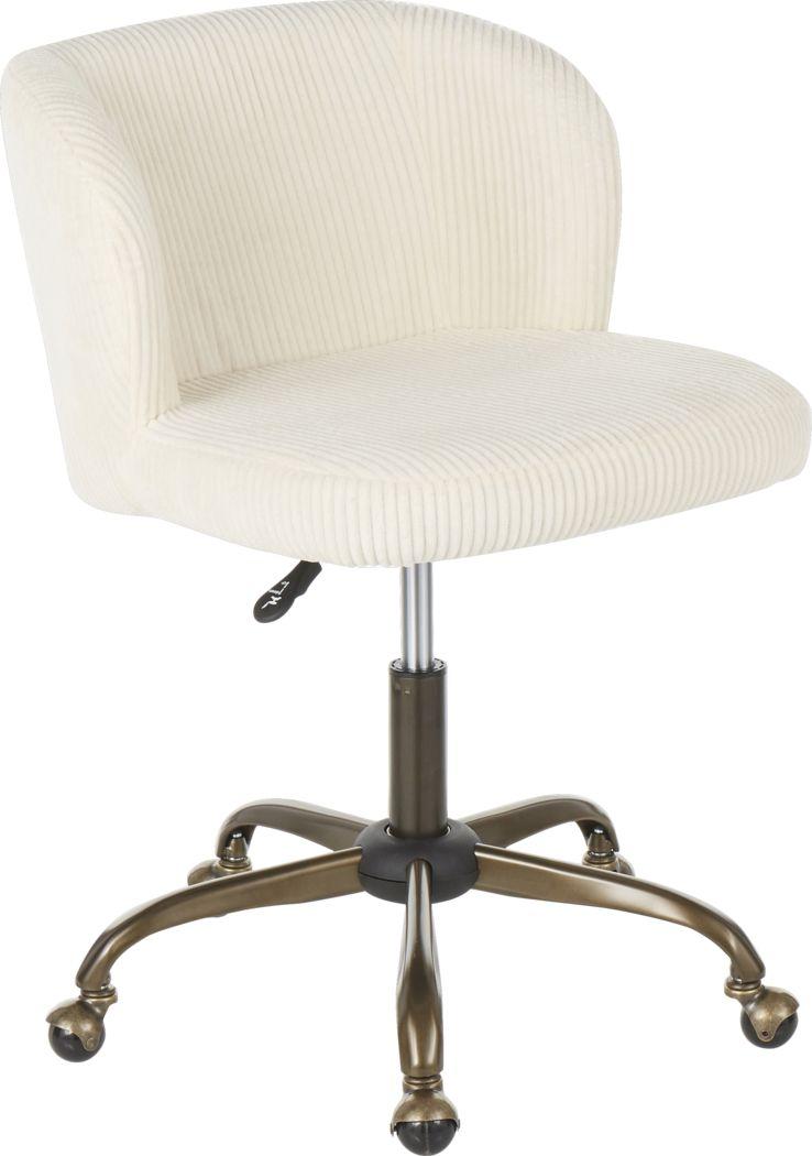 Fussell Cream Desk Chair
