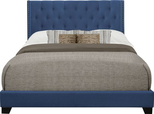 Galewood Blue Full Upholstered Bed