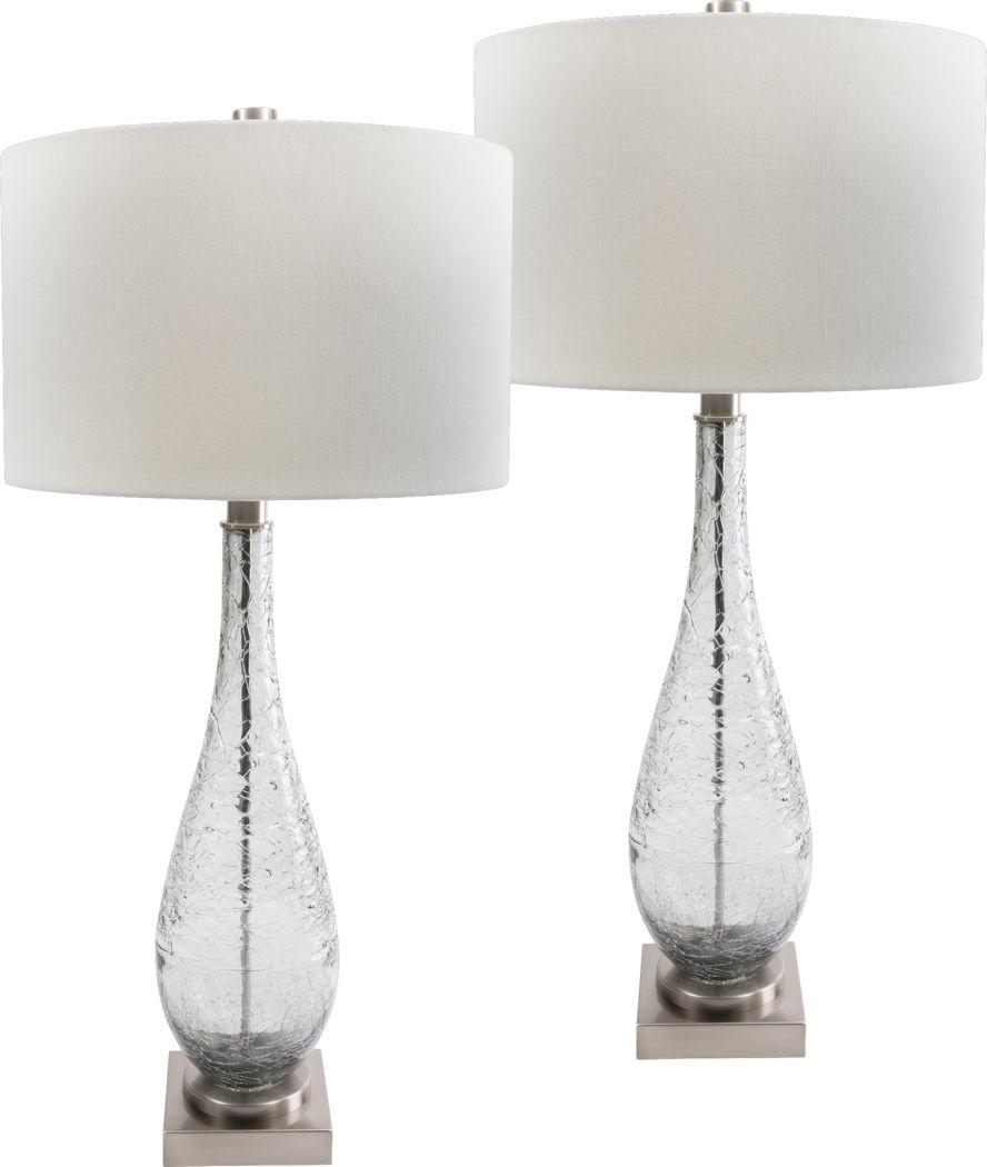 Gallolee Gray Lamp, Set of 2