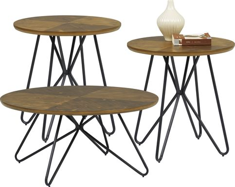 Galvin Brown 3 Pc Table Set