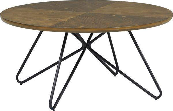 Galvin Brown Round Cocktail Table