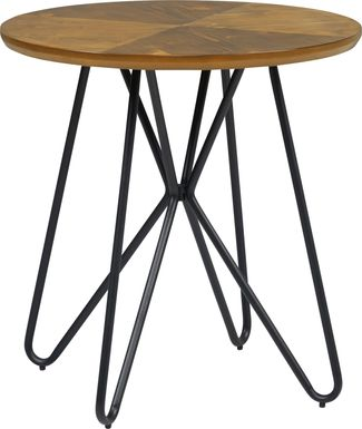 Galvin Brown Round End Table