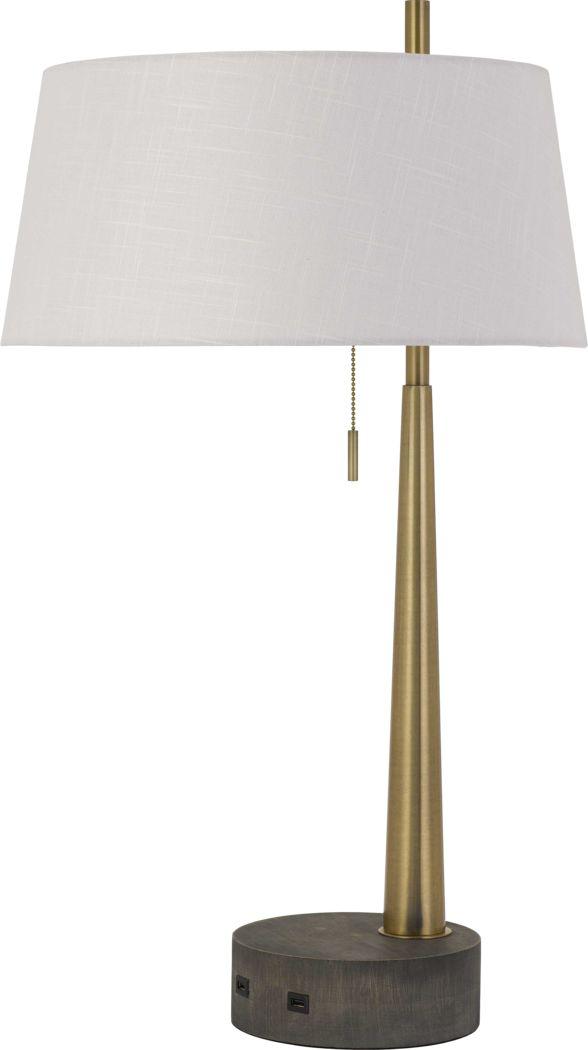Garden Club Brass Lamp