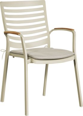 Garden View Sand Outdoor Arm Chair