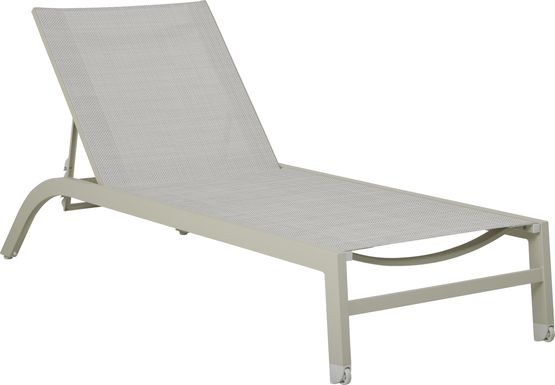 Garden View Sand Outdoor Chaise