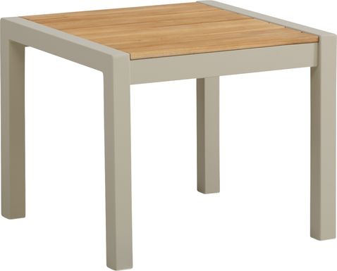 Garden View Sand Outdoor Side Table