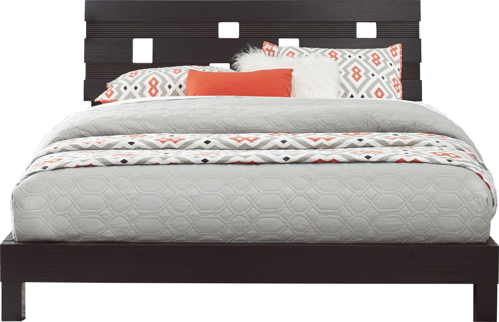 Gardenia Black 3 Pc Queen Platform Bed
