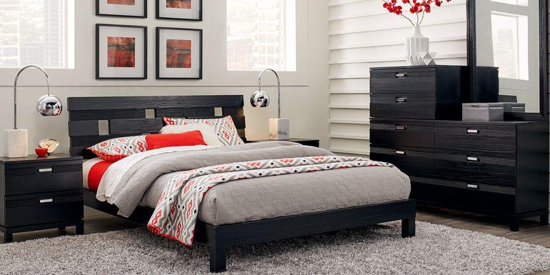 Gardenia Black 7 Pc King Platform Bedroom
