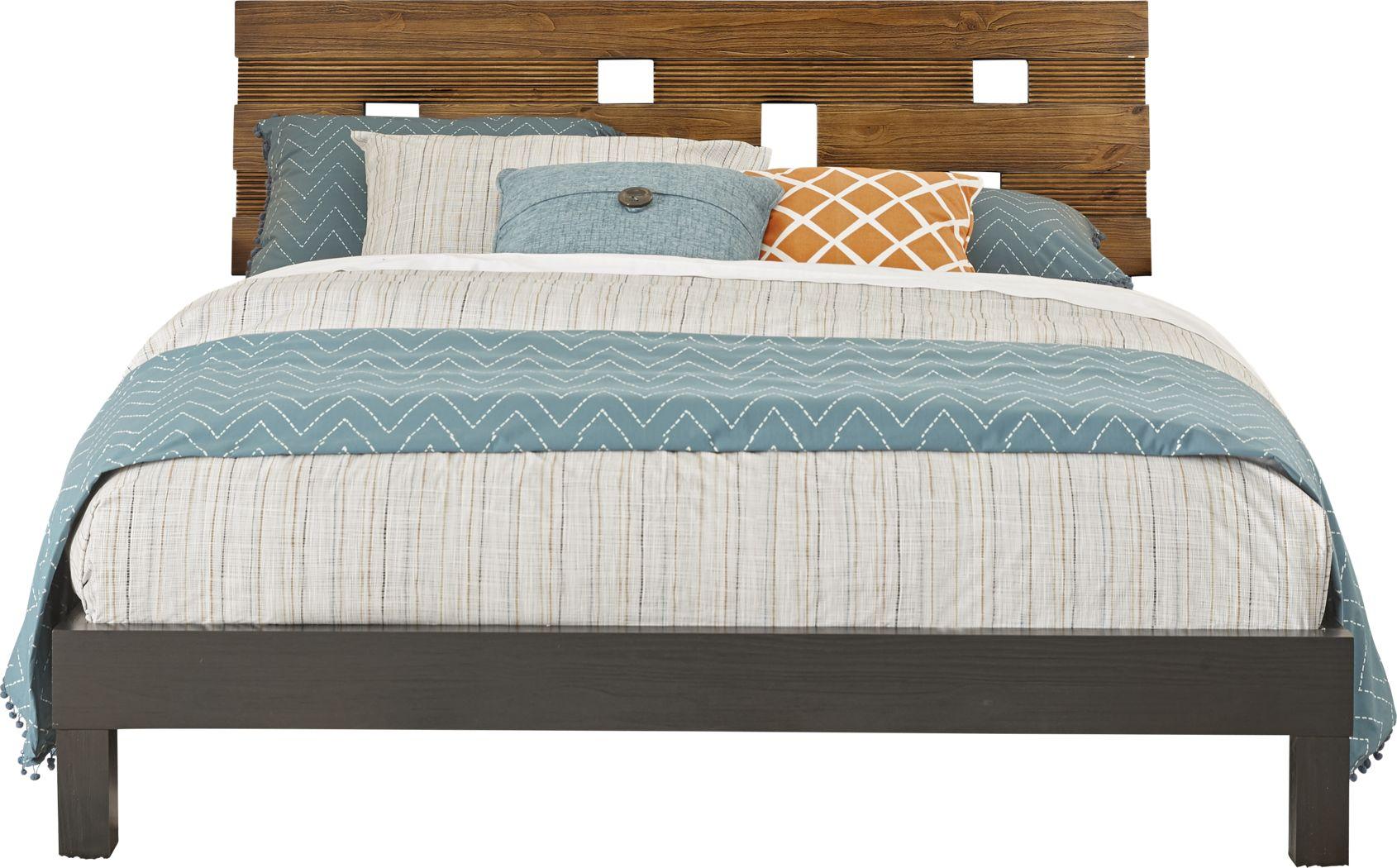Gardenia Honey 3 Pc Queen Platform Bed