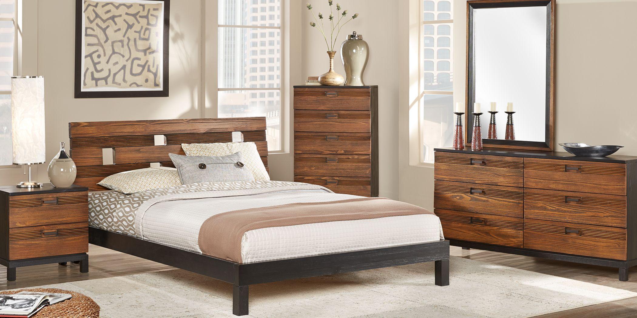 Gardenia Honey 8 Pc King Platform Bedroom