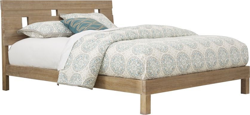 Gardenia Pecan 3 Pc Queen Platform Bed