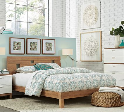 Gardenia Pecan 5 Pc Queen Platform Bedroom