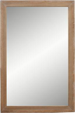 Gardenia Pecan Mirror