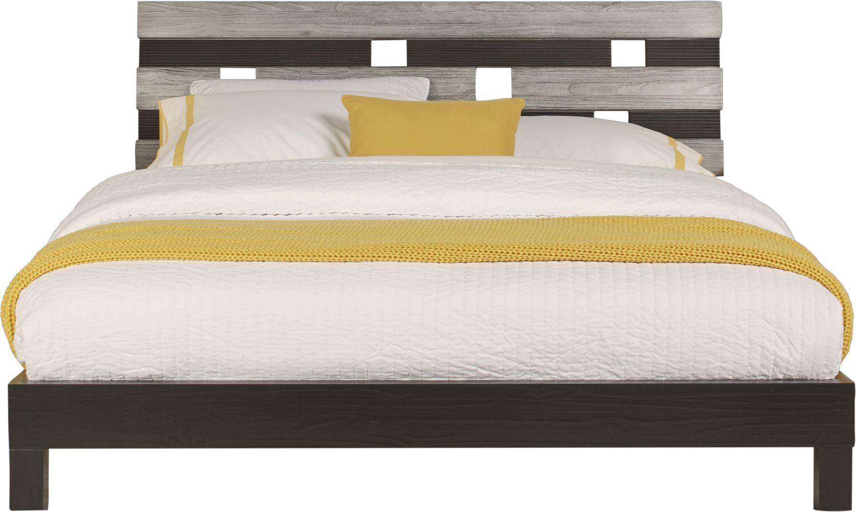 Gardenia Silver 3 Pc King Platform Bed
