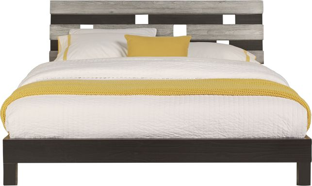 Gardenia Silver 3 Pc Queen Platform Bed