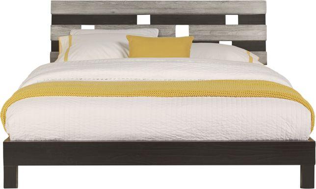 Gardenia Silver 3 Pc Queen Platform Bed