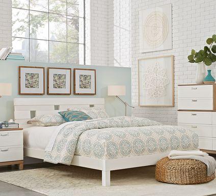 Gardenia White 6 Pc King Platform Bedroom