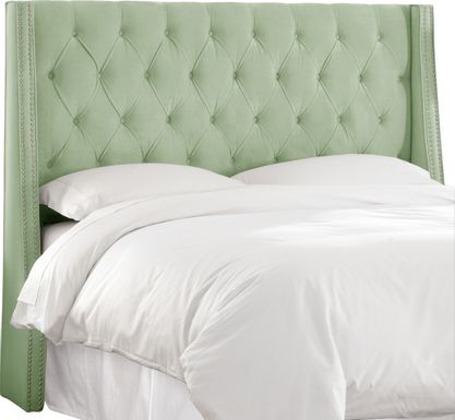 Garonne Green Full Upholstered Headboard.